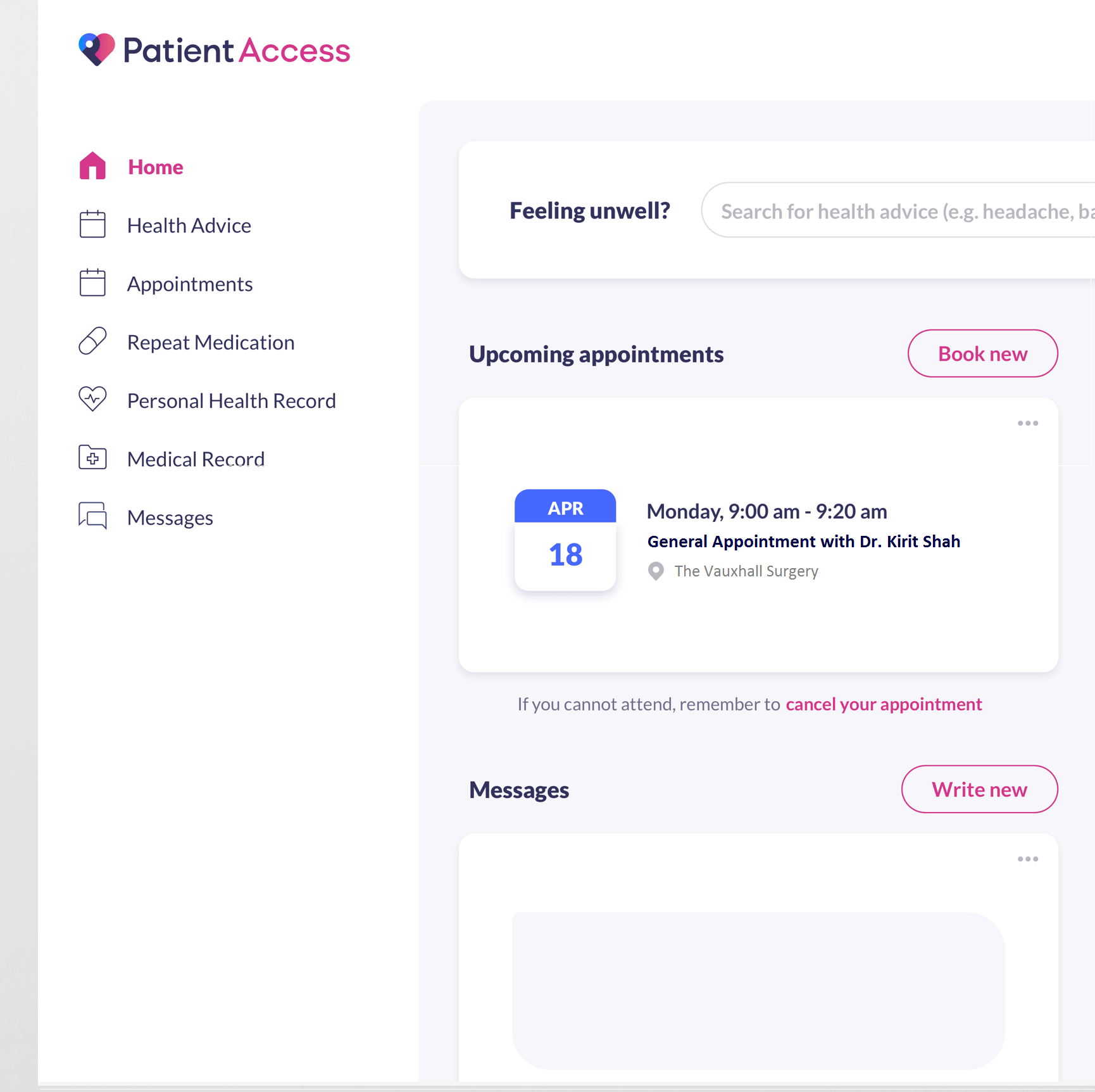 Overview of Patient Access